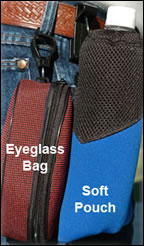 Utility Bag Pouch and Glasses Case